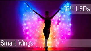 Скачать SMART LED Light Up Rainbow Bellydance Wings 164 LEDs
