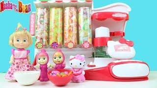 Hello Kitty'nin Şeker Dükkanını Açıyoruz- Maşala Şekerleri Görünce Neler Yaptı Masha and Bear