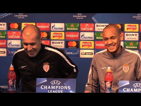 Leonardo Jardim & Fabinho Pre-Match Press Conference - Manchester City v Monaco - Champions League