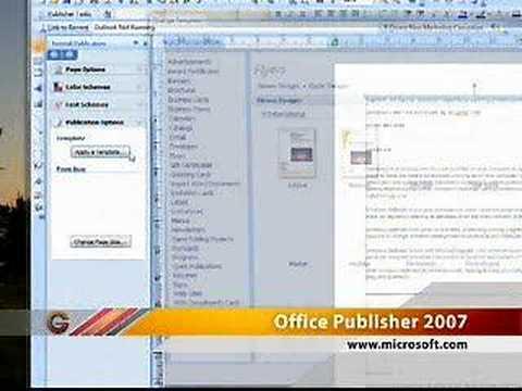 Microsoft Office Publisher 2007 - YouTube