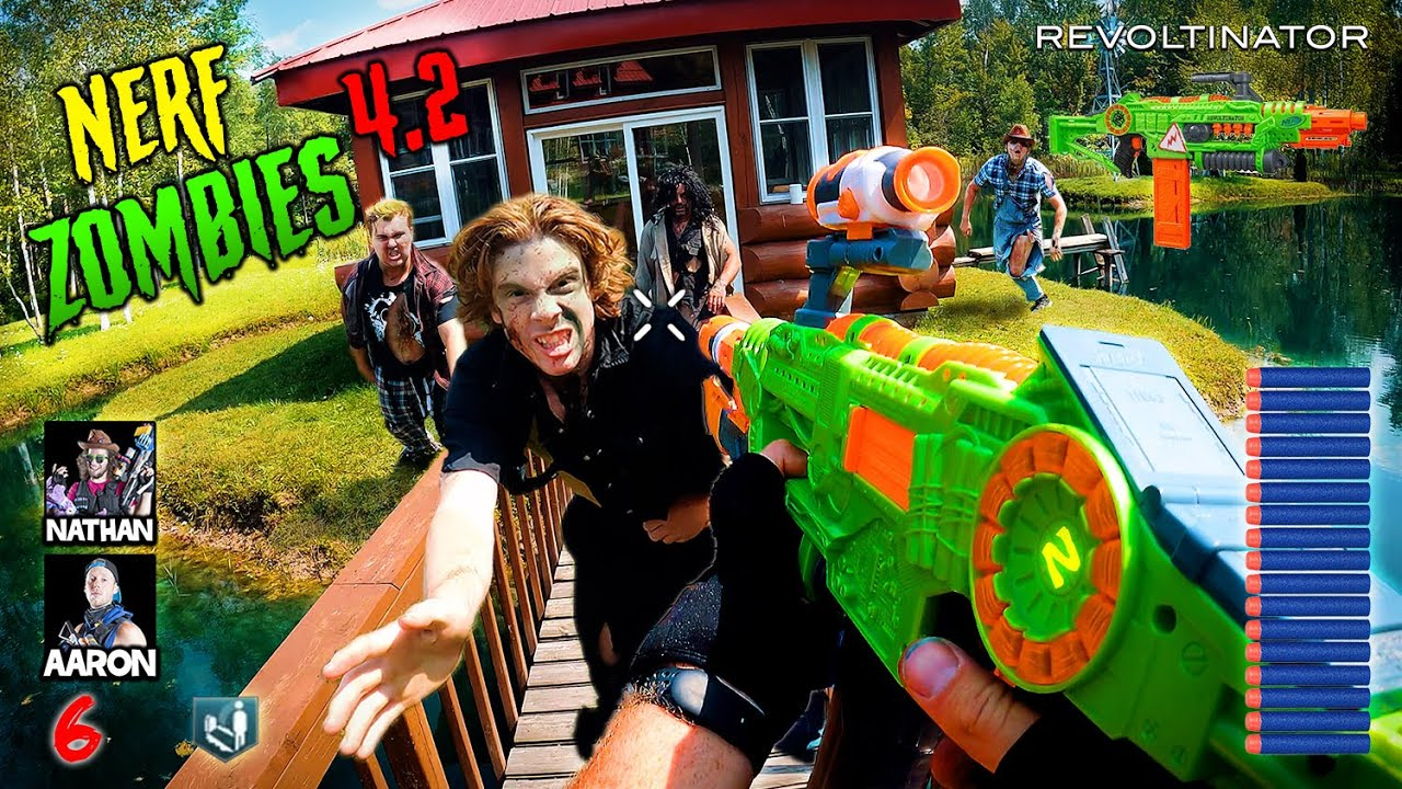Download NERF meets Call of Duty ZOMBIES 4.2   (Nerf Gun First Person Shooter!)