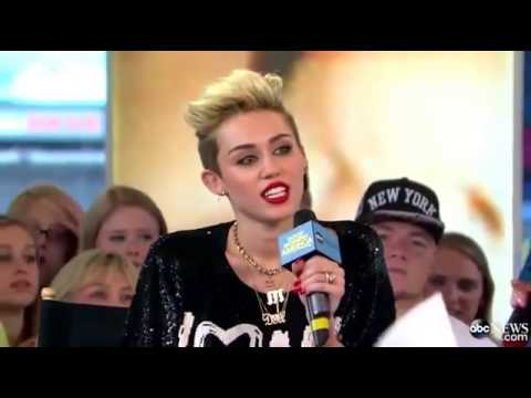 Miley Cyrus Good Morning America Interview 2013