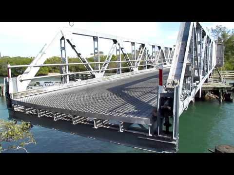 Casey Key Swing Bridge Over The ICW Closing