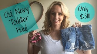 Old Navy Haul for Toddlers and Baby | Mom of Three
