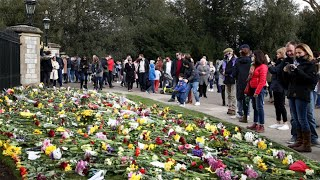 video: 'Stay away' warnings swept aside by mourners who would not be deterred from 'duty' to Prince Philip