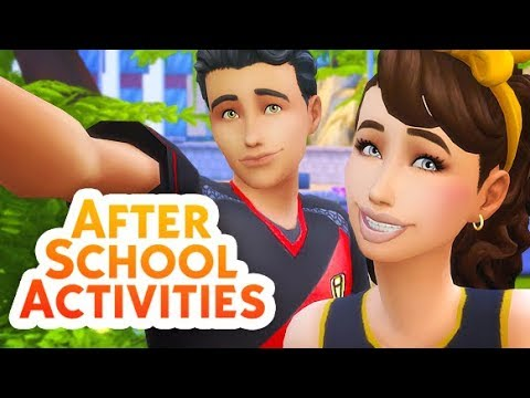 CHEERTEAM, FOOTBALL PRACTICE, SWIMTEAM + MORE | THE SIMS 4 // AFTER SCHOOL ACTIVITIES MOD REVIEW