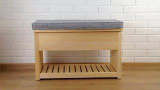 Банкетка для прихожей   Пуф   DIY Entryway Bench  Bauanleitung