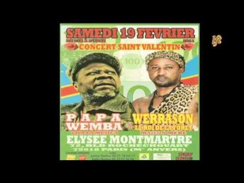 SPOT CONCERT PAPA WEMBA - WERRASON SAINT VALENTIN A PARIS LE 19 FEV 2011