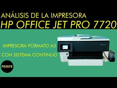 Análisis de impresora HP 7720 con sistema continuo - Formato A3