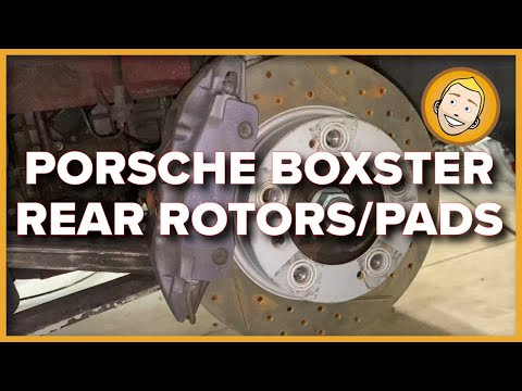 REMOVE RUST And INSTALL REAR ROTORS And PADS On A Porsche Boxster 986 (Project 49, 55)
