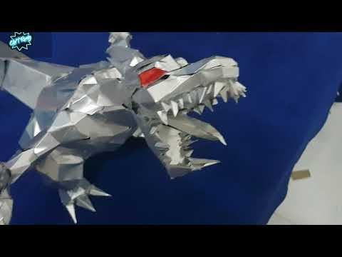 Chít Rung Làm mô hình khủng long bạo chúa từ vỏ lon
