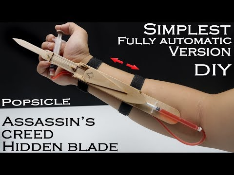 How to make Assassin's Creed Hidden blade - EASIEST WAY - Fully automatic