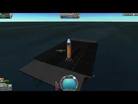 Kerbal Space Program - Emulating SpaceX - Landing A Rocket On A Barge