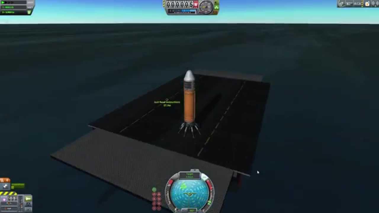 kerbal space program emulating spacex landing a rocket on a barge youtube