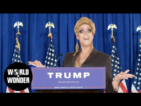 DRAG QUEENS REACT: Donald Trump Lipsync #ImWithHer