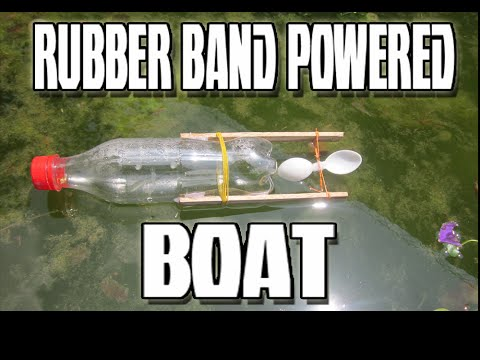 How To Make Rubber Band Powered Boat School S Project