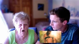 My Grandma Reacts to Anaconda Music Video by Nicki Minaj