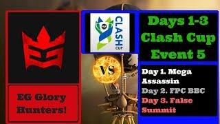 clash cup event 5 | EG Gloryhunters | Days 1-3| Clash of Clans