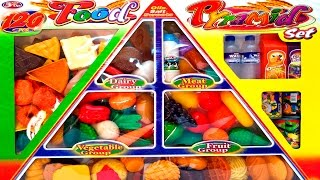 Food Pyramid Set Cooking Play Set Microwave Oven Toy Food Videos Play Dod Food