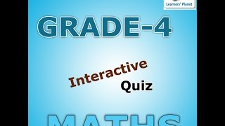 Ncert 4th Grade Math Interactive Practice Quiz