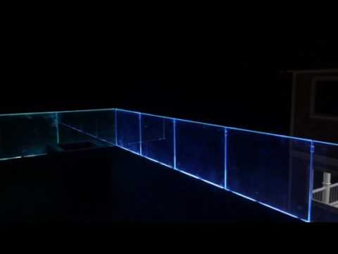 Harvey Cedars Floating Glass Railing With Led Lighting