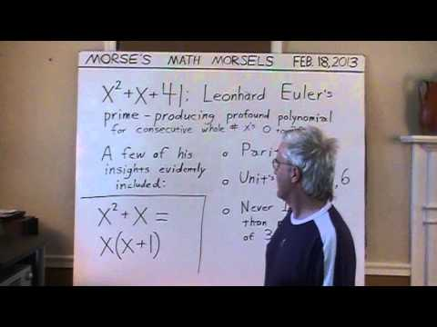 Mathematics - just a tiny example of (Leonhard) Euler's genius and insights.