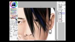 Jain Art / Yida Huang 黃義達 Fan Drawing-Set Me Free III
