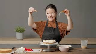 Торт Моника Мой легендарный торт Сливочный бисквит лимонный курд карамель клубника