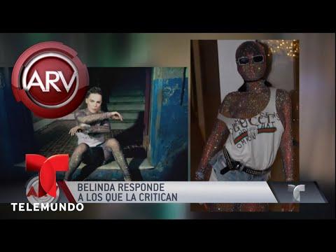 Belinda reacciona con los dientes ante las críticas | Al Rojo Vivo | Telemundo