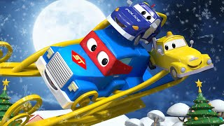 Christmas cartoon ! The Grinch and Carl the Super Truck - Car City ! Trucks Cartoon for kids