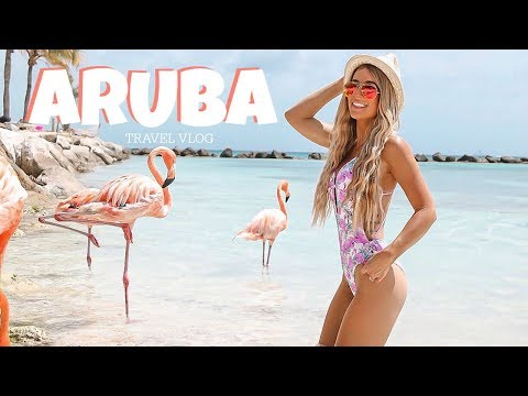 ARUBA TRAVEL VLOG 2018--GOT BIT BY A FLAMINGO
