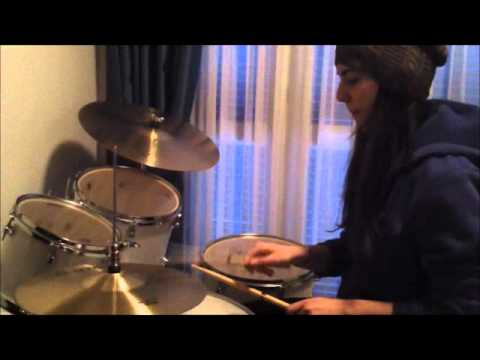THEKLA ANDREOU (15 YEARS OLD) PLAYING DRUMS