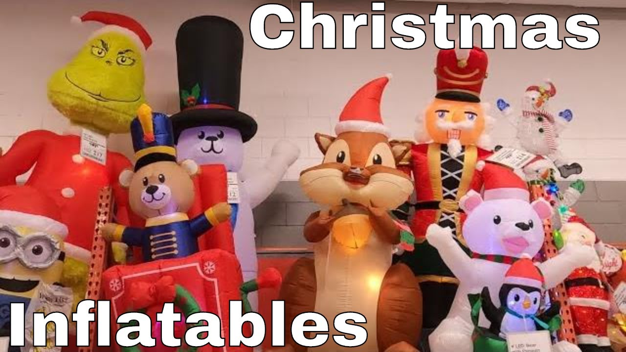 Christmas Inflatables And Decorations At Home Depot Youtube