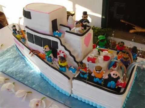 Tiered Wedding Cake With Boats