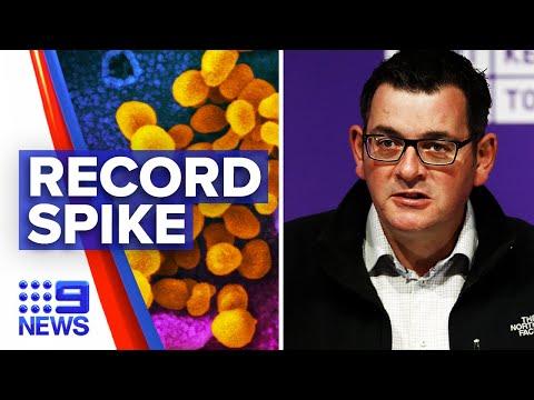 Coronavirus: Victoria's Record Single-day Spike As Border Shuts | 9 News Australia