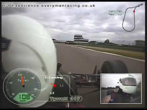 F1 Tyrrell on board lap with JP at Mallory park 2009