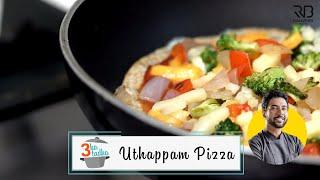 Easy Uthappam Pizza | रवा पिज़्ज़ा तवे पर | No egg/oven Crispy Pizza | Chef Ranveer Brar