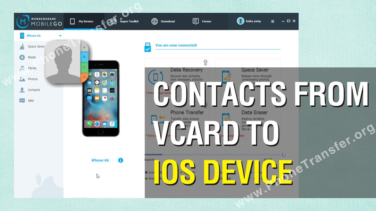How To Import Contacts From Vcard To Ios Device Vcf Contacts To Iphone