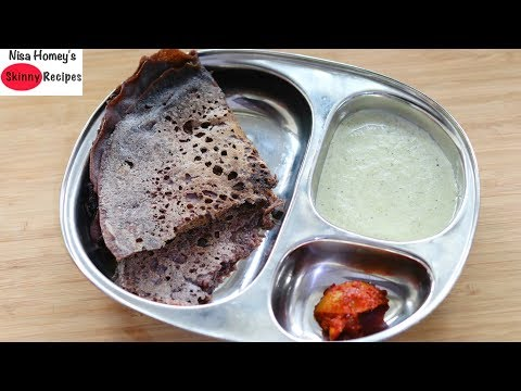 instant-ragi-dosa-recipe---how-to-make-ragi-neer-dosa---weight-loss-millet-recipes-|-skinny-recipes