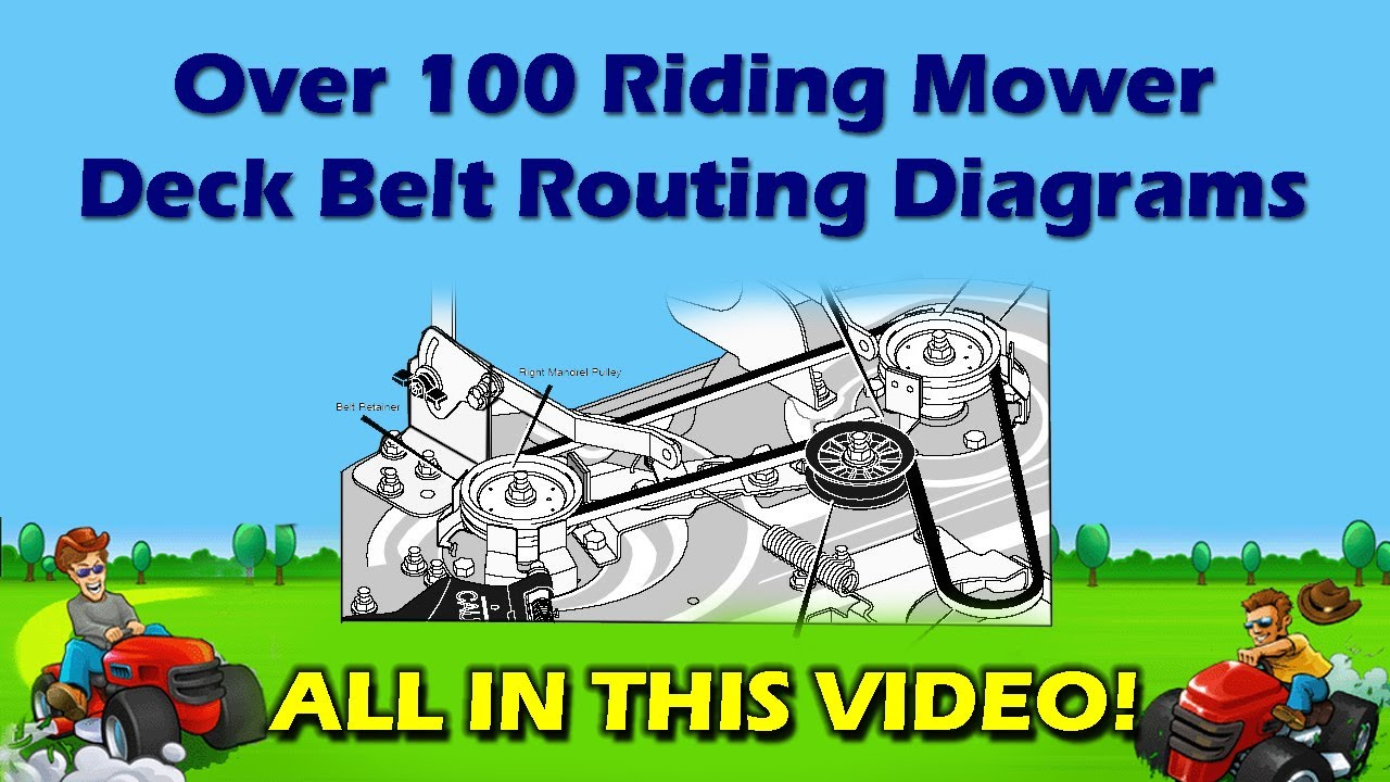 Riding Mower Deck Belt Diagrams DIY Repair Manual AYP - MTD, John ...
