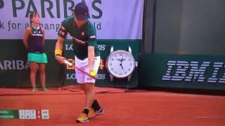 ‼️錦織選手が全仏オープン2017でラケット破壊‼️ thumbnail