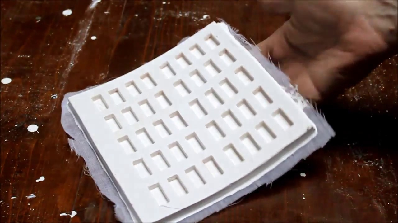 DIY How To Make Mold for Miniature Bricks  Actual Process of Making homemade  YouTube