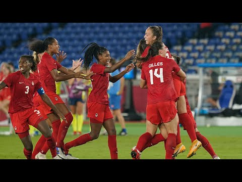 Canada wins gold in women's soccer after beating Sweden