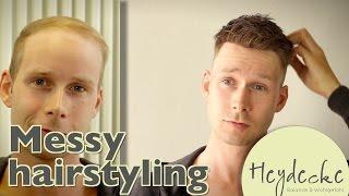 Messy Hairstyle for Men without Hair? Strubbel Frisur für Männer ohne Haare