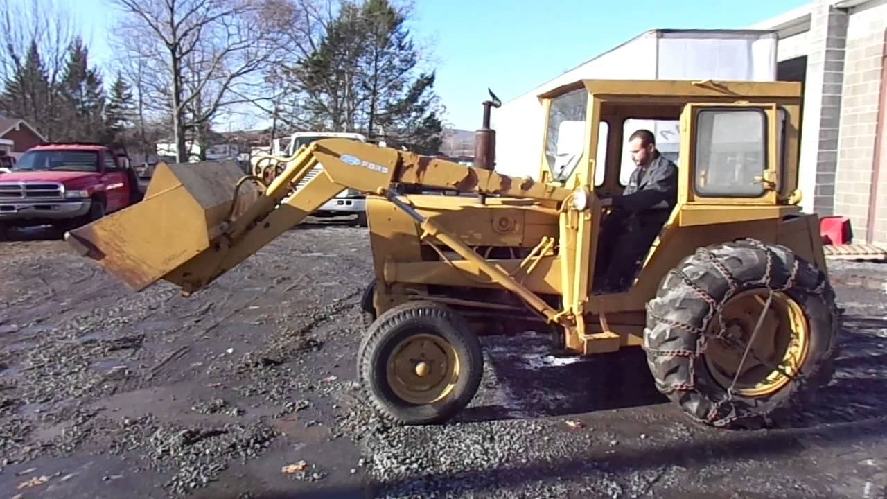 Ford 3500 Tractor : Ford industrial tractor loader youtube