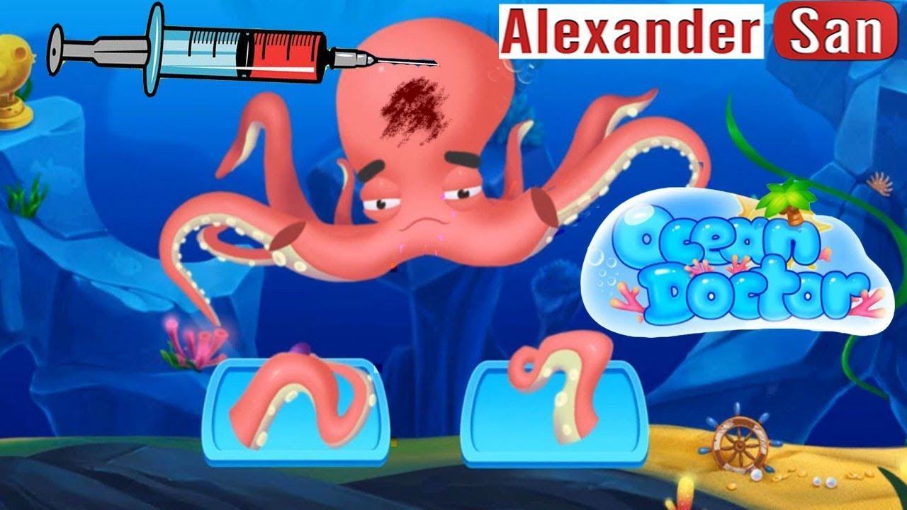 БОЛЬНИЦА ДЛЯ МАЛЫШЕЙ Доктор животных в океане Мультик игра для детей Fun Animals Care Baby Doctor