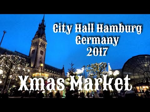 City Hall Christmas Market 2017 - Hamburg, Germany