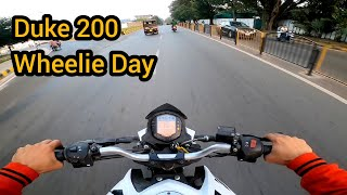 Ktm Duke 200 Power Test || wheelie day