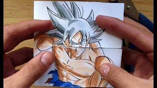 TUTORIAL Transformaciones de Goku | TARJETA SIN FIN DIY