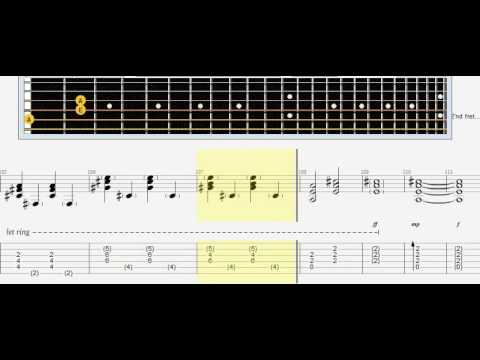 Sting   Shape Of My Heart tabs/note acustic guitar